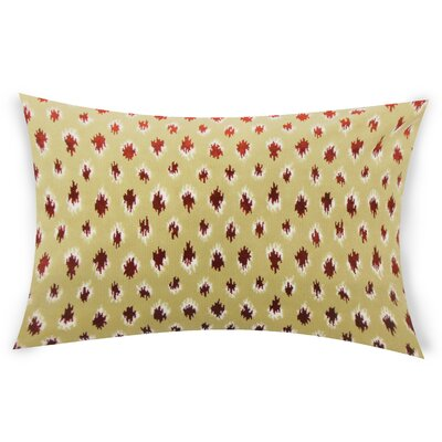 Upland Ikat Down Filled Lumbar Pillow Color: Cayenne