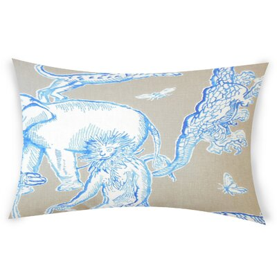 Vandalia Graphic Down Filled 100% Cotton Lumbar Pillow Color: Azure