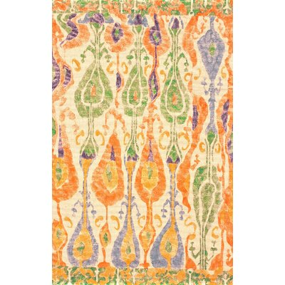 Wagner Orange/Green Area Rug Rug Size: Rectangle 8 x 10