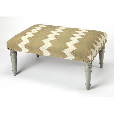 Willia Ottoman Upholstery: Gray