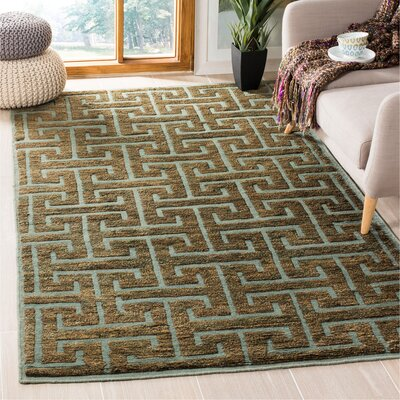 Elise Blue / Beige Area Rug Rug Size: Rectangle 5 x 8