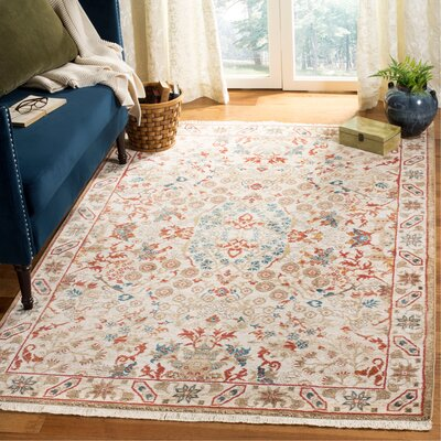 Murphy Traditional Ivory Area Rug Rug Size: Rectangle 3'3