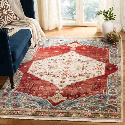 Murphy Red Area Rug Rug Size: Rectangle 9 x 12
