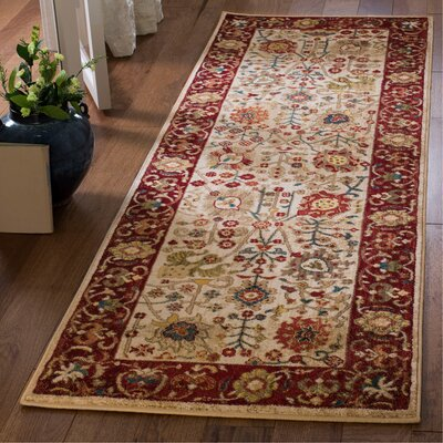 Murphy Ivory Area Rug Rug Size: Runner 26 x 8