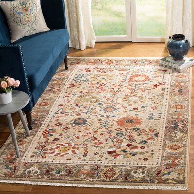 Murphy Beige Area Rug Rug Size: Rectangle 33 x 410