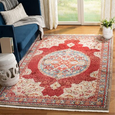 Murphy Red Oriental Area Rug Rug Size: Rectangle 9 x 12