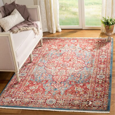 Murphy Red/Blue Oriental Area Rug Rug Size: Rectangle 9 x 12