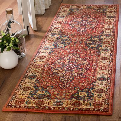 Murphy Red Area Rug Rug Size: Runner 26 x 8