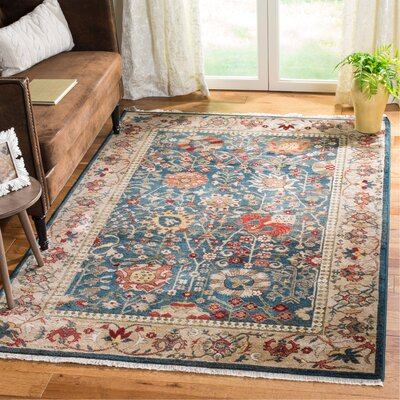 Murphy Blue Area Rug Rug Size: Rectangle 9 x 12