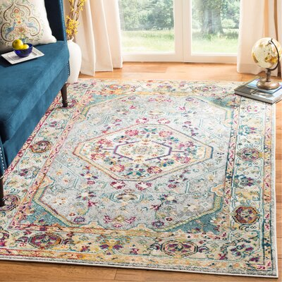 Mcintosh Gray Area Rug� Rug Size: Rectangle 9 x 12