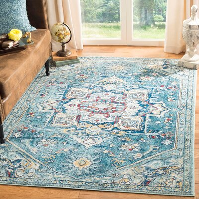 Mcintosh Boho Blue Area Rug� Rug Size: Rectangle 3 x 5