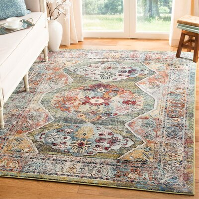 Mcintosh Green Area Rug� Rug Size: Rectangle 3 x 5
