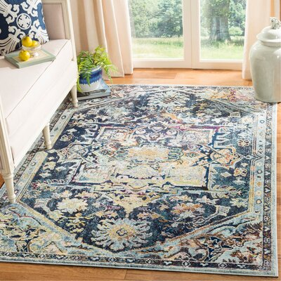 Mcintosh Boho Navy Area Rug� Rug Size: Square 7