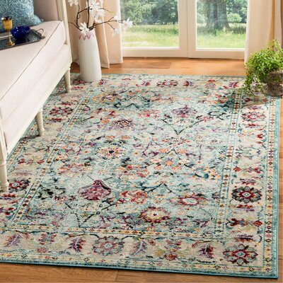 Mcintosh Blue Area Rug� Rug Size: Rectangle 6 x 9