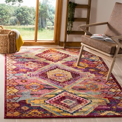 Mcintosh Boho Yellow/Pink Area Rug� Rug Size: Rectangle 6 x 9