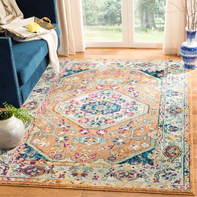 Mcintosh Orange/Blue Area Rug� Rug Size: Rectangle 3 x 5