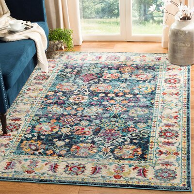 Mcintosh Navy Area Rug� Rug Size: Rectangle 3 x 5