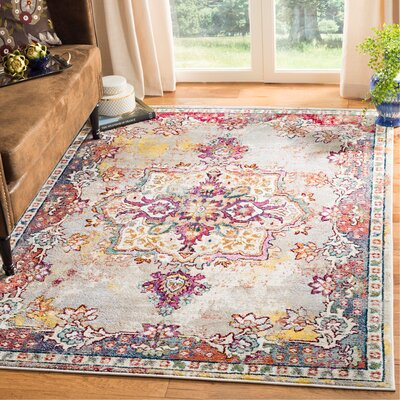 Mcintosh Creme Area Rug� Rug Size: Rectangle 4 x 6