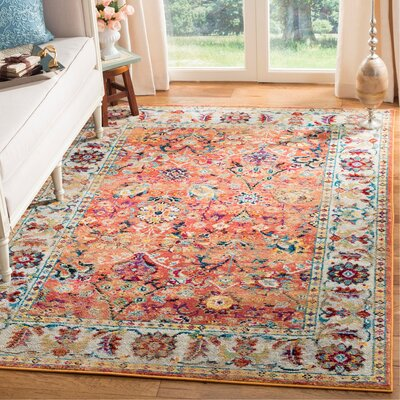 Mcintosh Orange Area Rug� Rug Size: Rectangle 3 x 5