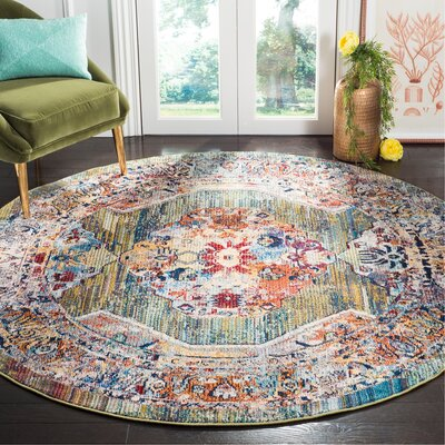 Mcintosh Green Area Rug� Rug Size: Round 7