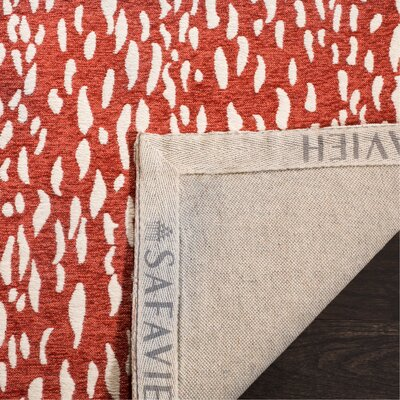 Melinda Hand Tufted Red Area Rug Rug Size: Rectangle 4 x 6