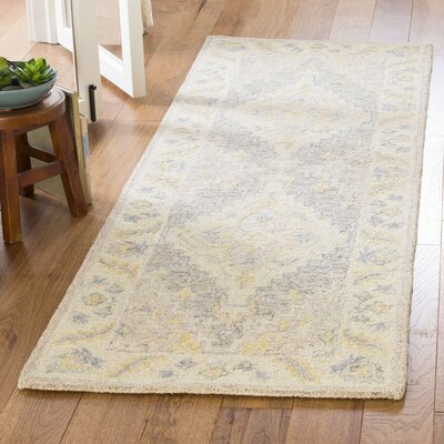 Nichole Hand Tufted Wool Beige Area Rug Rug Size: Rectangle 26 x 4