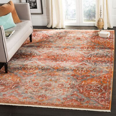 Feldmann Vintage Persian Orange Area Rug Rug Size: Rectangle 6 x 9
