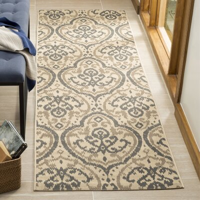 Fairview Beige/Anthracite Area Rug Rug Size: Runner 27 x 82