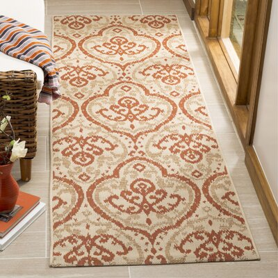 Fairview Beige/Terracotta Area Rug Rug Size: Runner 27 x 82