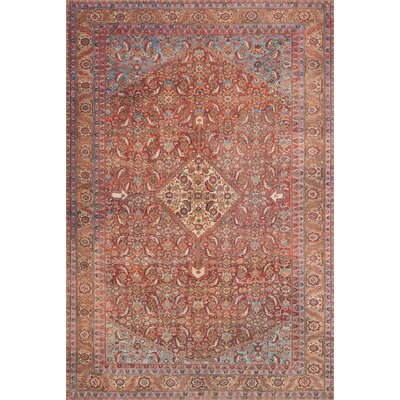 Raul Red Area Rug� Rug Size: Rectangle 5' x 7'6