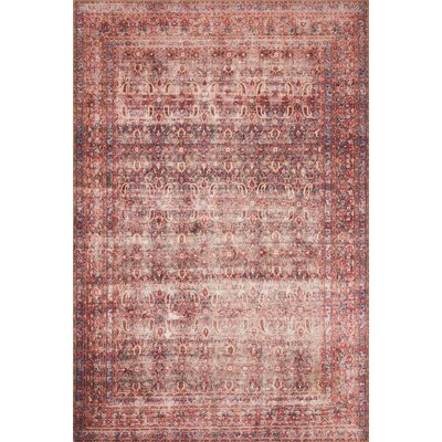 Raul Eggplant/Crimson Area Rug� Rug Size: Rectangle 23 x 39