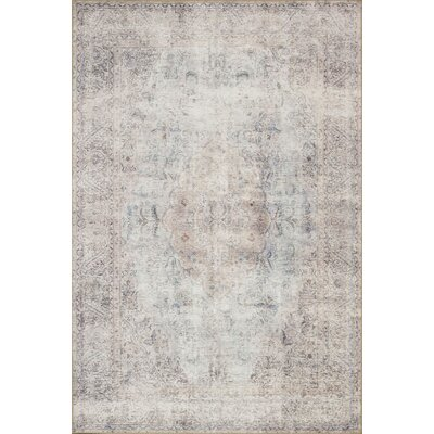 Rakesh Silver/Slate Area Rug� Rug Size: Rectangle 76 x 96