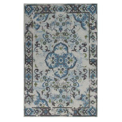 Narberth Blue/Gray Area Rug Rug Size: Rectangle 655 x 985
