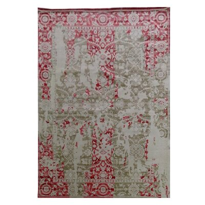 Nassau Street Red/Gray Area Rug Rug Size: Rectangle 525 x 75