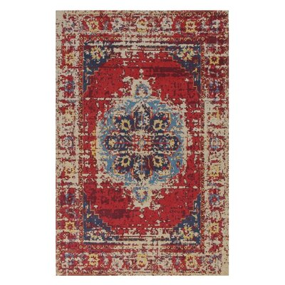 Narvaez Red/Beige Area Rug Rug Size: Rectangle 82 x 115