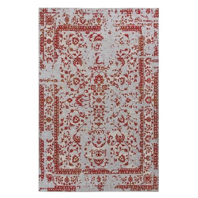 Nason Red/Gray Area Rug Rug Size: Rectangle 525 x 75