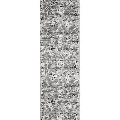 Dunnigan Dark Gray Area Rug Rug Size: Runner 28 x 8