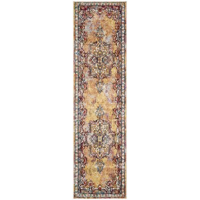 Mcintosh Yellow Area Rug� Rug Size: Runner 23 x 8