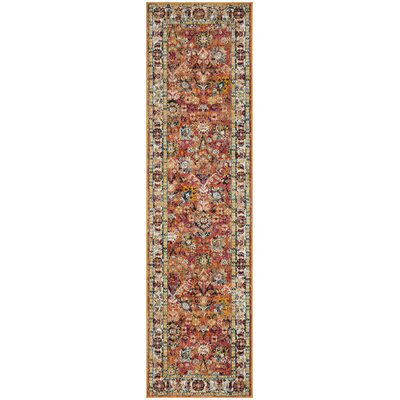 Mcintosh Orange Area Rug� Rug Size: Runner 2'3