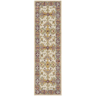 Moss Hand Tufted Wool Ivory Area Rug Rug Size: Runner 23 x 8