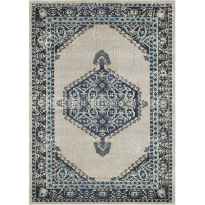 Feldmann Persian Inspired Beige/Blue Area Rug Rug Size: Rectangle 8 x 10