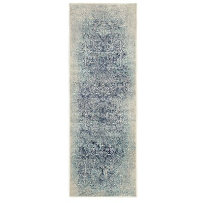Ickes Navy Blue Area Rug Size: Runner 28 x 8