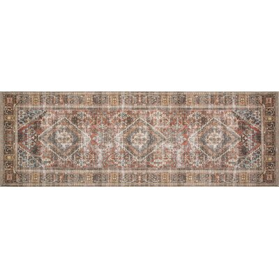 Onderdonk Brown Area Rug Rug Size: Rectangle 26 x 76