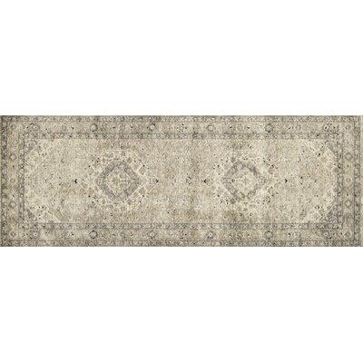 Diez Sand/Ivory Area Rug Rug Size: Runner 28 x 76