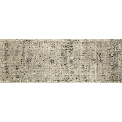 Diez Stone/Charcoal Area Rug Rug Size: Runner 28 x 76