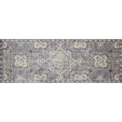 Dietrick Hand-Hooked Blue Area Rug Rug Size: Runner 28 x 12