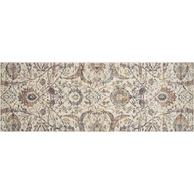 Dietrick Hand-Hooked Ivory Area Rug Rug Size: Runner 28 x 8