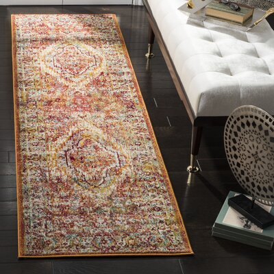 Mcintosh Orange Area Rug� Rug Size: Runner 23 x 8