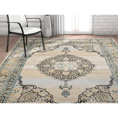 Coalgate Contemporary Blue Area Rug Rug Size: 710 x 106