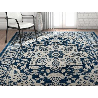 Coalgate Blue Area Rug Rug Size: 53 x 73